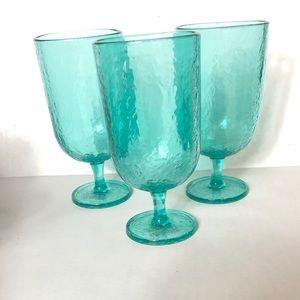 Pottery Barn 3 plastic ice tea cups tumblers